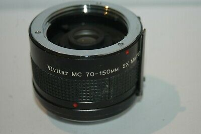 Vivitar Mc 70-150 Mm 2X Matched Multiplier Lens. Minolta M/Md Bayonet Fitting.