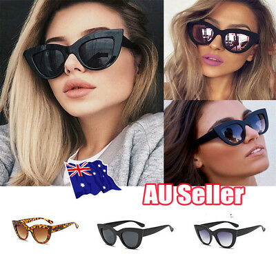 Luxury Ladies Womens Oversized Cat Eye Sunglasses Vintage Style Retro Shades J6