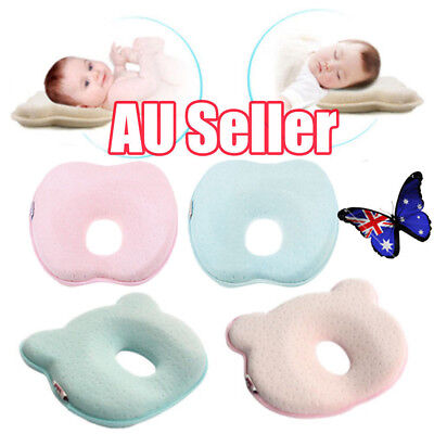 Baby Infant Newborn Memory Foam Pillow Prevent Flat Head Anti Roll Support HOJ6