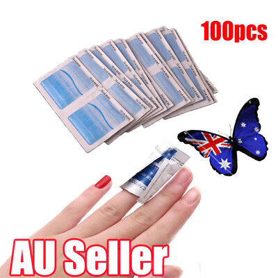 100Pcs Gel Polish Remover UV Soak Off Acetone Removal Wraps Nail Art Cleaner J6