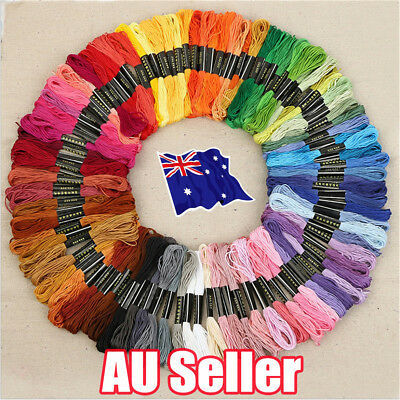 50 Color Egyptian Cross Stitch Cotton Sewing Skeins Embroidery Thread Floss J6