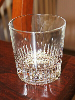 Two Crisal Lead Crystal Cut Glass Old Fashioned Whiskey Glasses Portugal