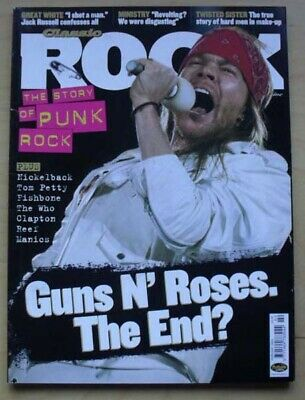 Guns N Roses Classic Rock #50 Magazine February 2003 Axl Rose Cover With Feature