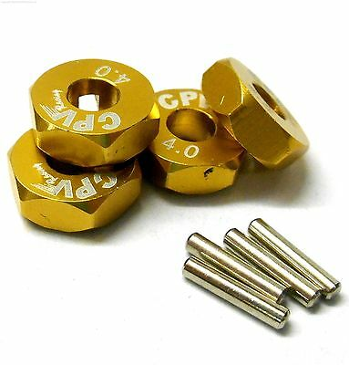 57815P 1//10 Scale RC M12 12mm Alloy Wheel Adaptors With Pins Nut Purple 5mm Wide