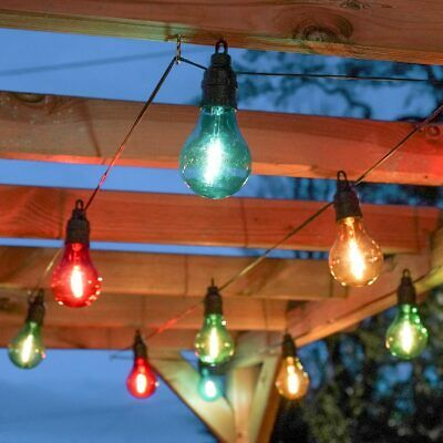 Plug In LED Filament Festoon Fairy Lights | Outdoor Garden Decoration Globe