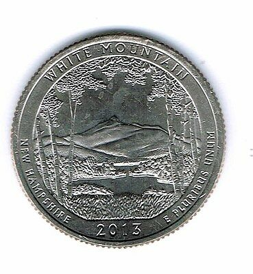 2013-S Brilliant Uncirculated White Mountains National Forest Quarter Coin!