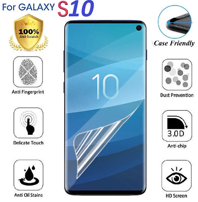 For SAMSUNG Galaxy S10 Screen Protector TPU FILM Cover - 100% Clear