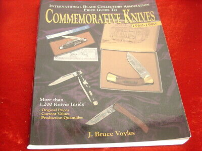 Bruce Voyles Signed 1960-1990 Commemorative Knife Collectors Price Guide Book