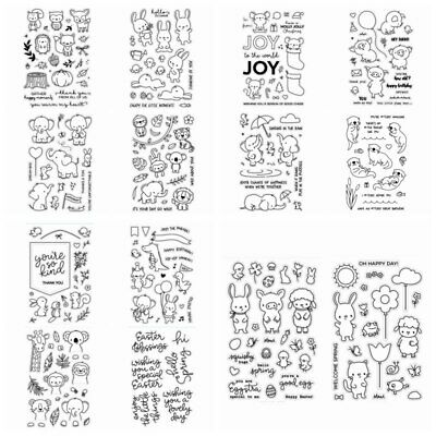 4*6inches Animals Clear Stamps Scrapbooking Crafts Decor Cards Silicone Stamp