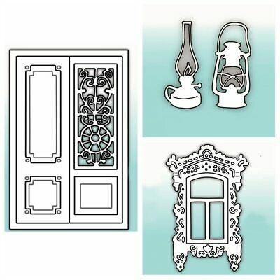 Window Lamp Door Metal Cutting Dies Scrapbooking Decor Paper Cards Handcrafts