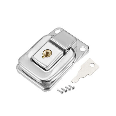 41mm x 28mm Metal Small Size Suitcase Hasp Catch Latch with Keys and Screws