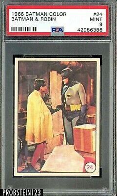 1966 Batman Color A & BC #24 Batman & Robin PSA 9 POP 5 NONE GRADED HIGHER