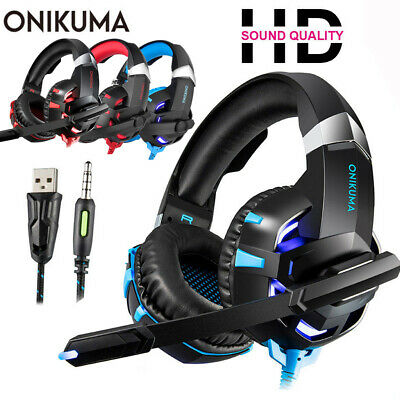 ONIKUMA K2 3.5mm Gaming Headset Headphone Stereo Bass for PS4 Xbox ONE PC W/Mic