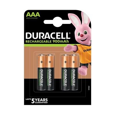 Duracell Ultra AAA Rechargeable Batteries NiMH 750mAh PreCharged HR03 Duralock