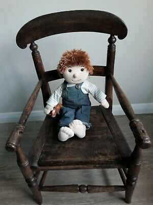 Victorian Child's Commode/Chair with Lovely Patina Ideal For Doll Collector