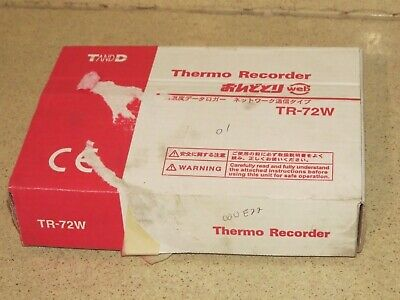 T AND D THERMO RECORDER MODEL TR-72W Ethernet Humidity/Temperature  (C3)