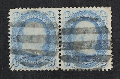 CKStamps: US Stamps Collection Scott#63 1c Franklin Used Pair