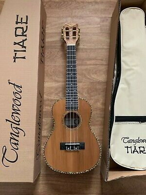 RRP £139 Concert Acoustic Model Ukulele, Maple w/ Solid Cedar Top Abalone Inlays