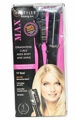 "InStyler Max 2-Way 1 1/4"" Barrel Rotating Iron in Black"