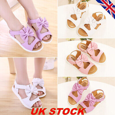 Kids Girls Ankle Strap Sandals Flats Children Hollow Out Summer Party Shoes Size