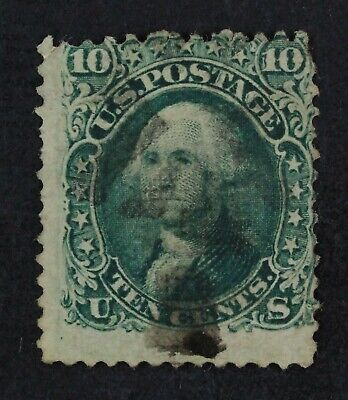 CKStamps: US Stamps Collection Scott#89 10c Washington Used Lightly Crease Thin