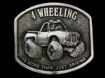 Nb13118 Vintage 1974 **4 Wheeling Is More Than Just Driving** Belt Buckle