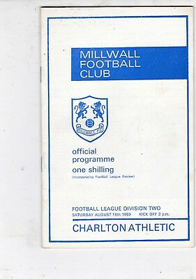 Millwall Home Programmes 1969/70 With Football League Review Updated 11/1/2019