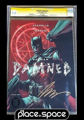 Cgc 9.8 - Batman: Damned #1 - Lee Variant Signed By Azzarello