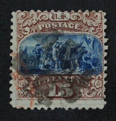 CKStamps: US Stamps Collection Scott#118 15c Pictorial Used Tiny Thin CV$800