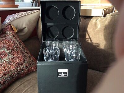 Waterford Crystal Set 4 Glasses John Rocha Geo Large Red Wine Glasses Boxed