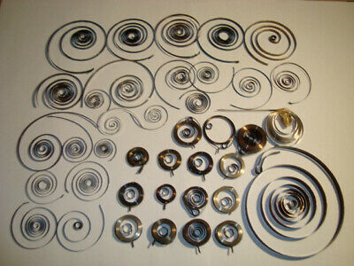 Job Lot of Clock SPRINGS + Watch NOS + Used - Spare Parts for Clockmakers