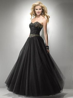 Sexy Strapless Black or Pink Beaded Prom Pageant Evening Gown Dress, Flirt 5794