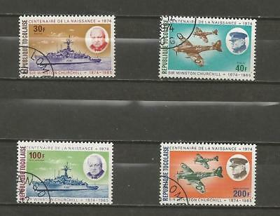 TOGO -1974 100th Anniv. of the Death of Sir Winston Churchill, - USED SET.