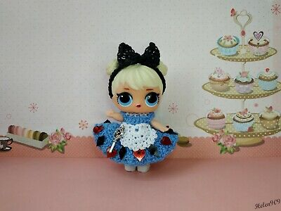 Alice in Wonderland - Crocheted dress for LOL Surprise doll
