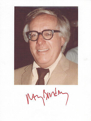 RAY BRADBURY - Author, GENUINE HAND SIGNED 8X11 COLOR PHOTO