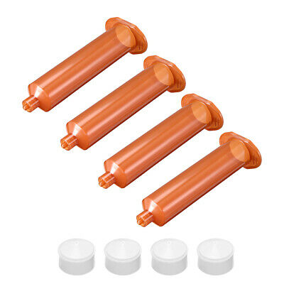 30CC/30ML Brown Adhesive Syringes Tube Sleeve with Piston for Industrial, 4 Pcs