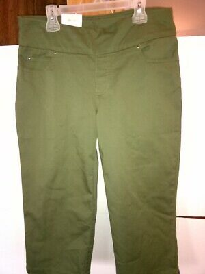5eec57f34e04 Time and Tru Pants Women's Size SMALL 4-6 Woven Pull on Capri Comfort Waist