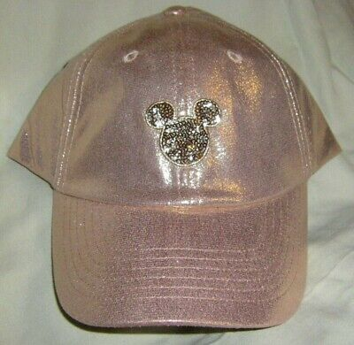 Disney Parks ROSE GOLD BASEBALL CAP HAT MICKEY MOUSE NWT