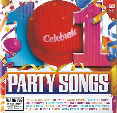 PARTY SONGS 5 CD Set 70s,80s,90s & Now Pop & Disco Hits (Digitally  remastered)