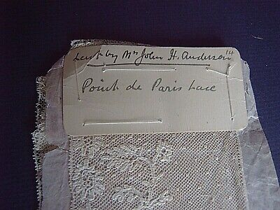 > VINTAGE LACE EDGING - POINT de PARIS LACE - 265 x 7 cms approx.     [B]