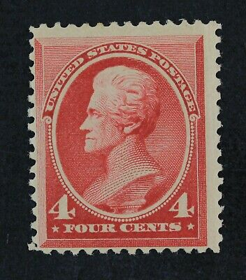 CKStamps: US Stamps Collection Scott#215 4c Jackson Mint H OG Gum Disturb