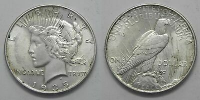 X38  1935 Peace Silver Dollar, Choice BU
