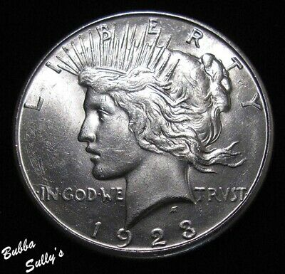 1923 S Peace Silver Dollar <> ABOUT UNCIRCULATED ++