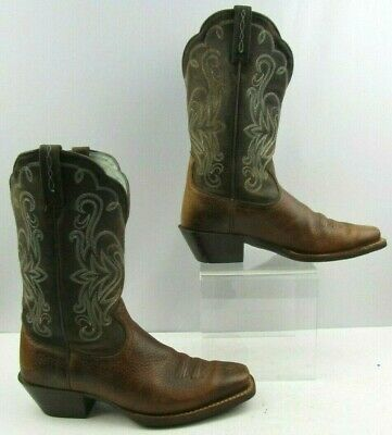 001a5ca14ae ARIAT LADIES OUTSIDER Western Boots Yukon Brown Fiery Red 10017372 ...