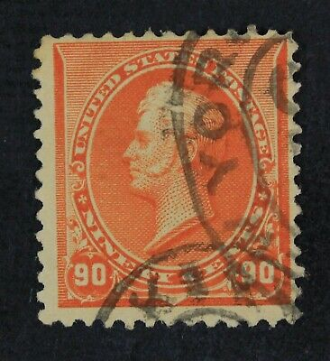 CKStamps: US Stamps Collection Scott#229 90c Perry Used Tiny Thin CV$150