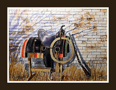 COWBOY TOOLS giclee print by Richard R. Nervig
