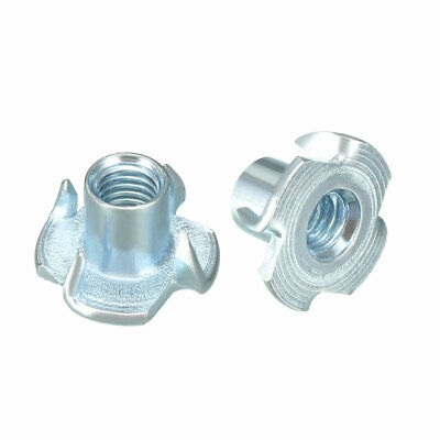 100Pcs M5 4 Pronged Tee Nut T-Nut For Rock Climbing Holds Wood Cabinetry