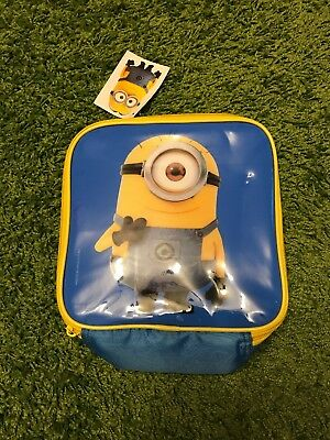NEW Despicable Me Minions Lunch Box BNWT Insulated lunch Bag School Dinners