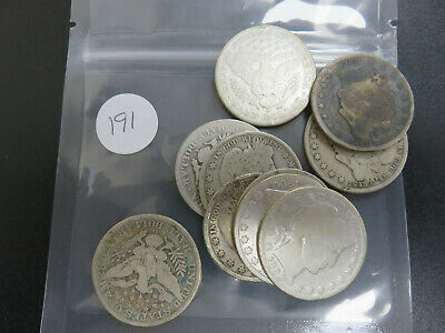 $5.00 Face Value 90% Silver Barber Half Dollars