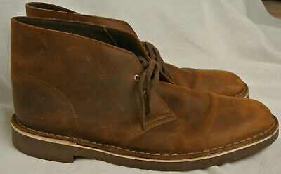 a4f3384f8bf MENS CLARKS BUSHACRE 2 Brown Beeswax Leather Ankle Chukka Boots 26082286 -  Sz 13